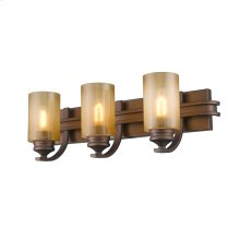 Hidalgo 3 Light Bath Vanity in Sovereign Bronze with Regal Glass