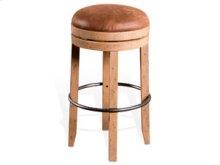 "24""H Metal Stool w/ Wood Seat(15""Rnd)"