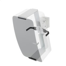 White- Secure and adjustable wall mount.