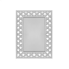 Rectangular Mirror With Mirrored Lattice Frame -can Be Hung Horizontally or Vertically