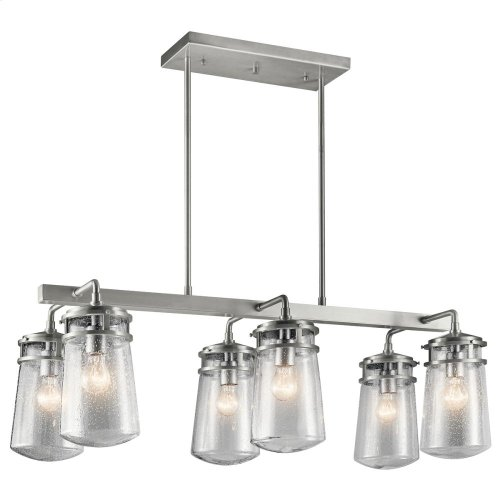 Lyndon Collection Lyndon 6 Light Outdoor Linear Chandelier BA