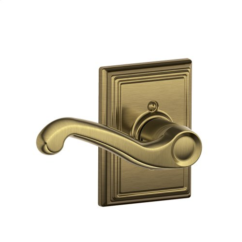 Flair Lever with Addison trim Non-turning Lock - Antique Brass