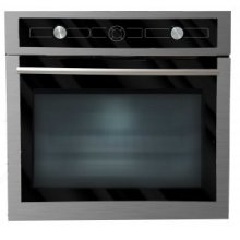 """24"""" built-in stainless steel and black glass multi-function oven"""