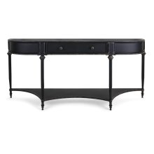 Atheron Black Metal Console with Drawer