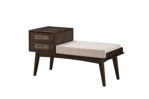 Emerald Home Millenium Upholstered Bench W/drawers Weathered Gray B218-36