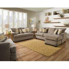 3650 - Perth Pewter Chaise Sofa