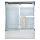 """Prestige Framed Sliding Shower Doors, 68"""" - Brushed Nickel Product Image"""