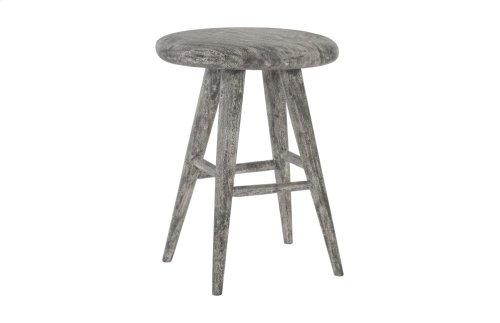 Chamcha Wood Oval Counter Stool, Grey Stone