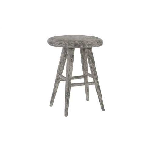 Smoothed Counter Stool, Chamcha Wood, Grey Stone, Oval