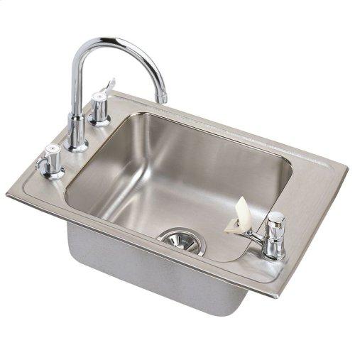 "Elkay Lustertone Classic Stainless Steel 31"" x 19-1/2"" x 5"", Single Bowl Drop-in Classroom ADA Sink"