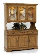 Classic Oak Large China Hutch Product Image