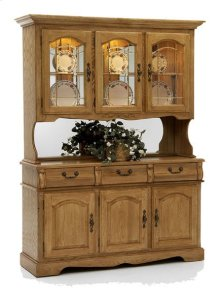 Classic Oak Large China Hutch