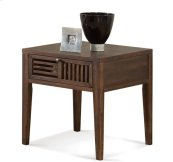 Modern Gatherings Open Slat Side Table Brushed Acacia finish