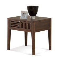Modern Gatherings Open Slat Side Table Brushed Acacia finish