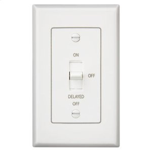 Fan/Light Control with off delay. 4 amps, 120V, White
