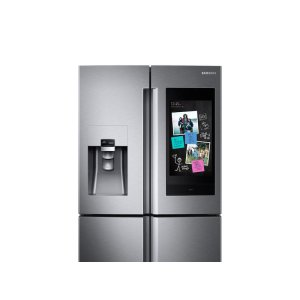 22 cu. ft. Counter Depth 4-Door Flex with 21.5 in. Connected Touch Screen Family Hub Refrigerator - FINGERPRINT RESISTANT STAINLESS STEEL