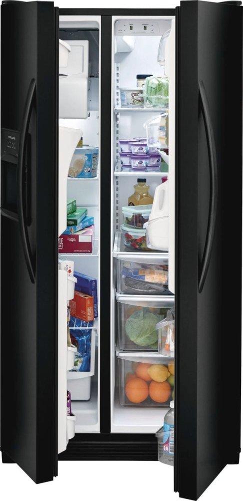 FFSS2615TE Frigidaire 25 5 Cu  Ft  Side-by-Side Refrigerator