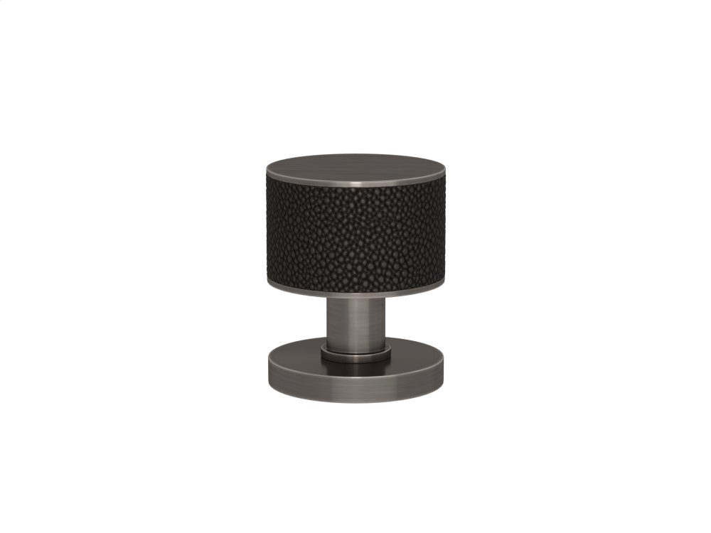 Stacked Shagreen Recess Amalfine In Black Bronze And Vintage Nickel
