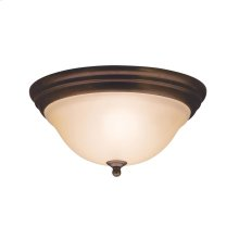 Telford Collection 2 Light Flush Mount Ceiling Fixture  Olde Bronze