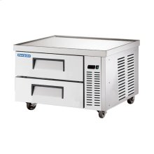 """36"""" Stainless Steel Chef Base Refrigerator"""