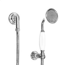Wall Mount Handshower Set with Porcelain Wand, Wall Bracket and Waterway