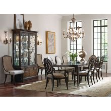 Uph Arm Chair W/decorative Back-kd