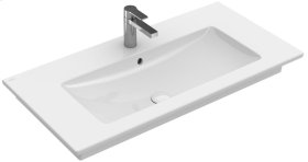 "Vanity washbasin 39"" with centered basin Angular - White Alpin CeramicPlus"