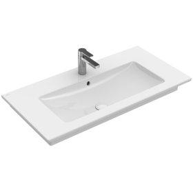 """Vanity washbasin 39"""" with centered basin Angular - White Alpin CeramicPlus"""
