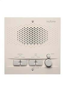 Indoor Remote Station for Intercoms, 5-1/2w x 5-1/2h x 1-5/8d, projects 1-1/8 from wall in Almond