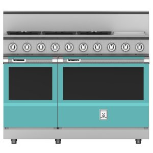 "Hestan48"" 5-Burner Dual Fuel Range with 12"" Griddle - KRD Series - Bora-bora"