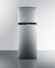 8.8 CU.FT. Frost-free Refrigerator-freezer With Platinum Cabinet, Stainless Steel Doors, and Factory Installed Icemaker
