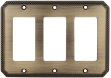 Triple Rocker Beaded Switchplate