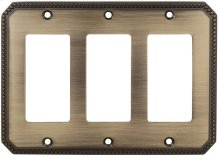 Triple Rocker Beaded Switchplate