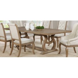 Glen Cove Traditional Barley Brown Dining Table