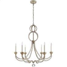 Visual Comfort NW5031VS Niermann Weeks Milan 6 Light 38 inch Venetian Silver Chandelier Ceiling Light, Niermann Weeks, Large, Clear Crystal