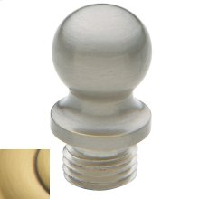 Satin Brass and Brown Ball Finial