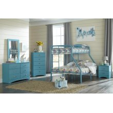 Turquoise Twin/Full Bunkbed