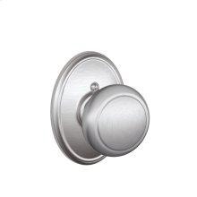 Andover Knob with Wakefield trim Non-turning Lock - Satin Chrome