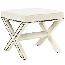 Rivet Bench in Ivory