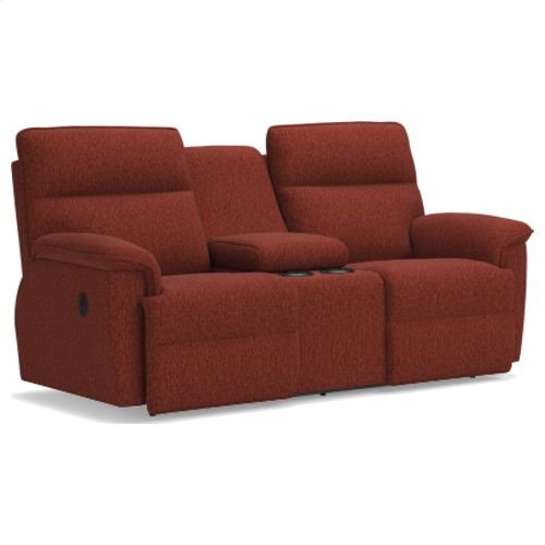 Jay La-Z-Time® Full Reclining Loveseat w/ Console