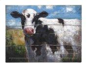 Ella Elaine Lester Cow Oil Painting Product Image