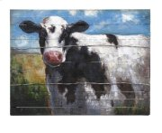 Ella Elaine Lester Cow Oil Painting Product Image