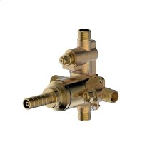 Rough valve for pressure balance tub and shower set with internal diverter