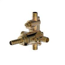 Rough valve for pressure balance tub and shower set with internal diverter