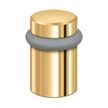 "Round Universal Floor Bumper 2"", Solid Brass - PVD Polished Brass"