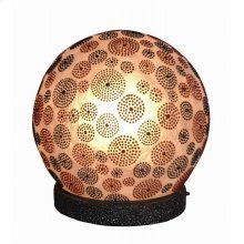 (LS) Charlene Table Lamp-Circle Design-Outdoor (S) (16x16x14)