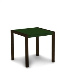 """Textured Bronze & Green MOD 30"""" Dining Table"""