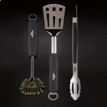 3 Piece Stainless Steel BBQ Tool Set