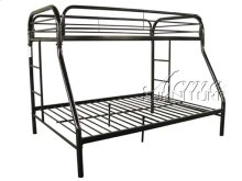 Black Finish Twin/Full Bunk Bed