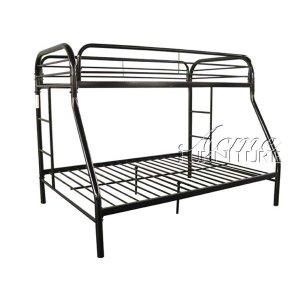 Black Finish Twin/Full Bunk Bed